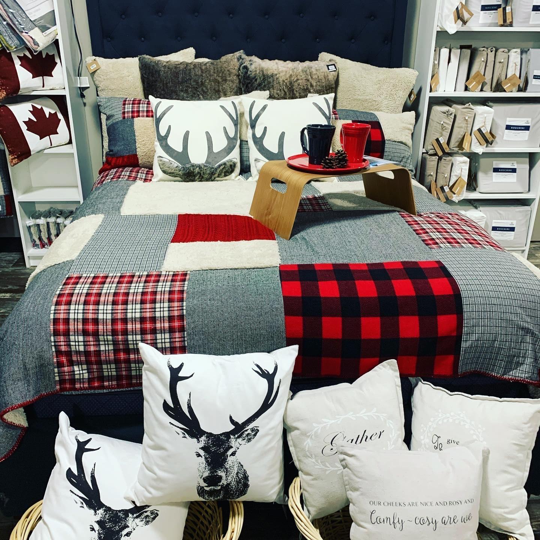 cariboo bedspread display